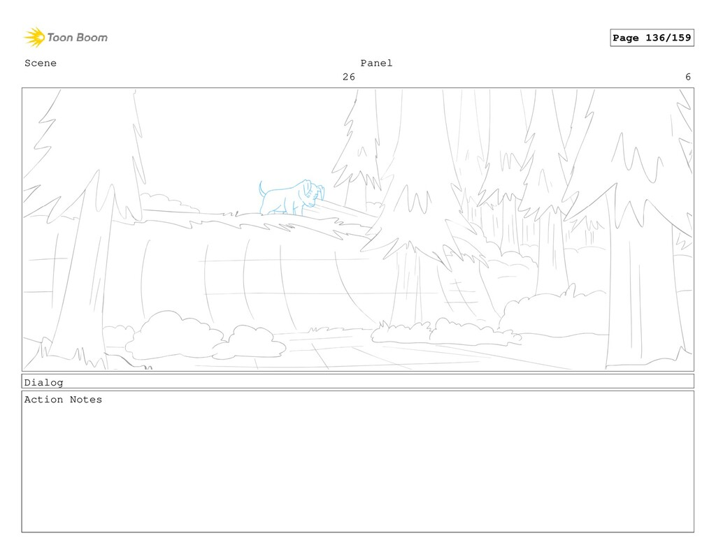 Scene 26 Panel 6 Dialog Action Notes Page 136/1...