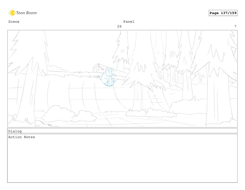 Scene 26 Panel 7 Dialog Action Notes Page 137/1...