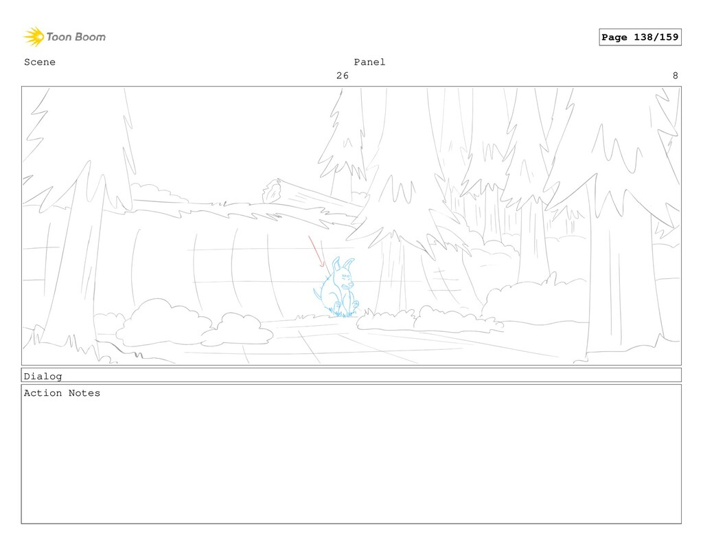 Scene 26 Panel 8 Dialog Action Notes Page 138/1...