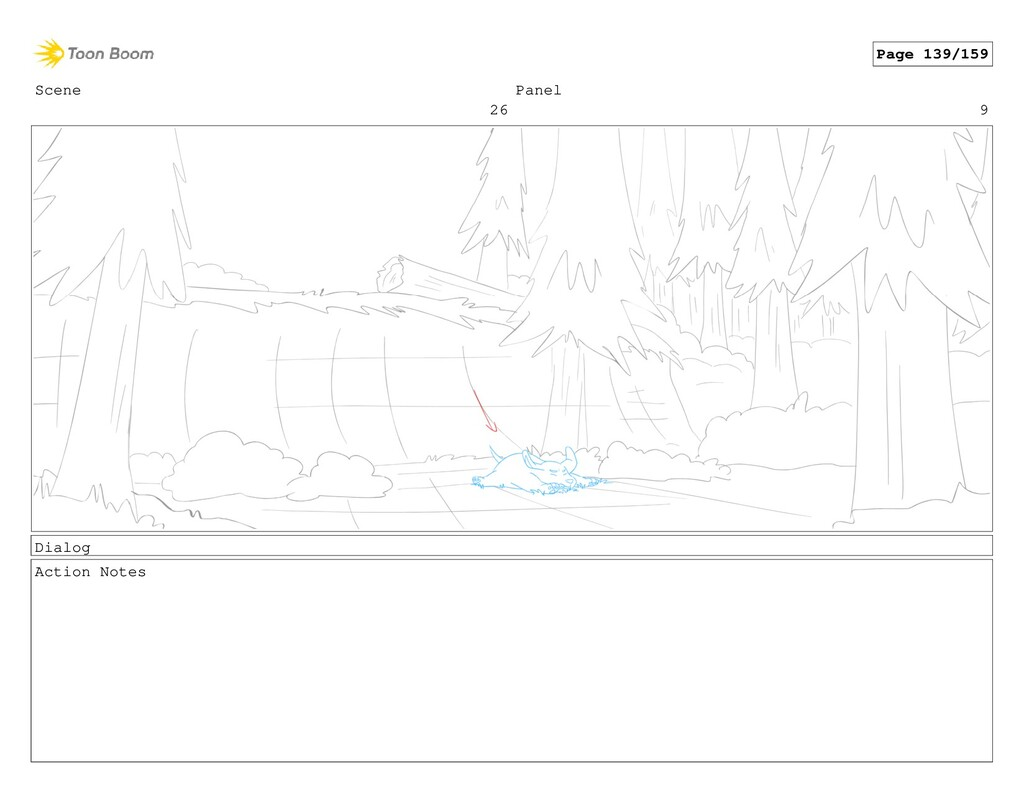 Scene 26 Panel 9 Dialog Action Notes Page 139/1...