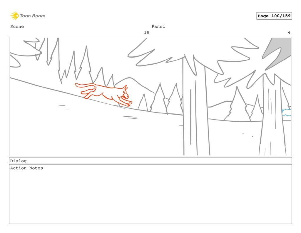 Scene 18 Panel 4 Dialog Action Notes Page 100/1...