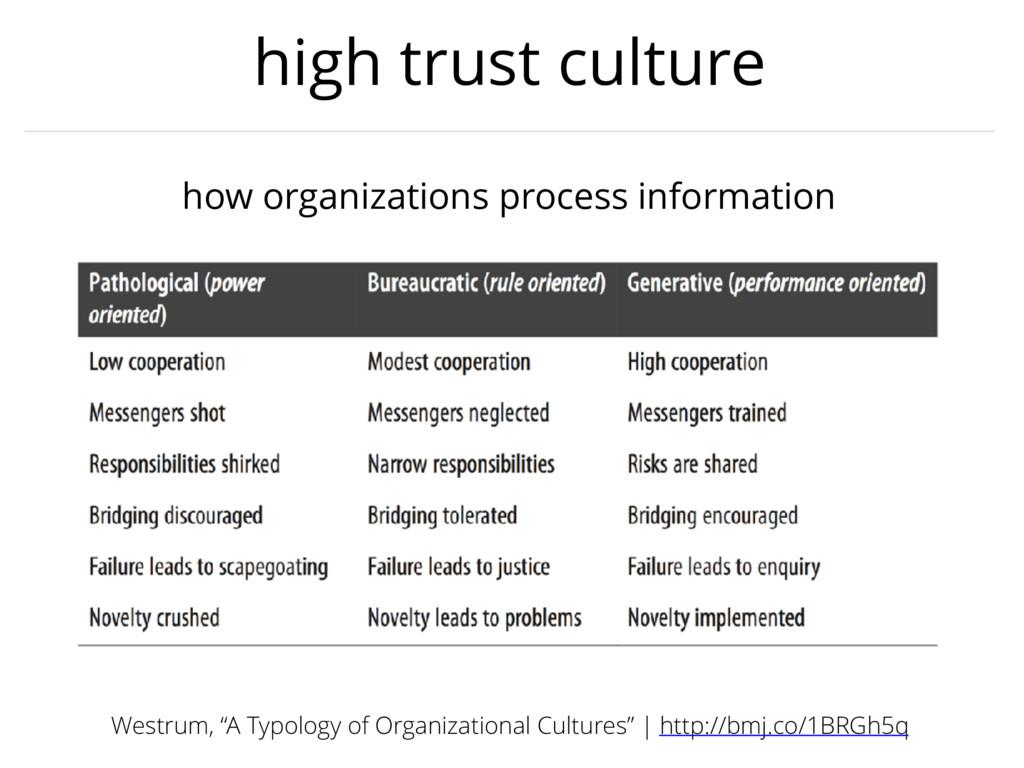 high trust culture how organizations process in...