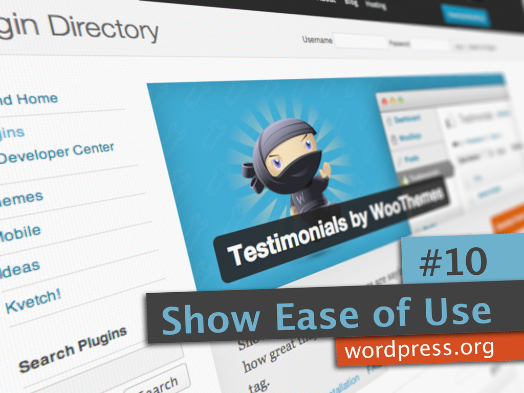 wordpress.org #10 Show Ease of Use