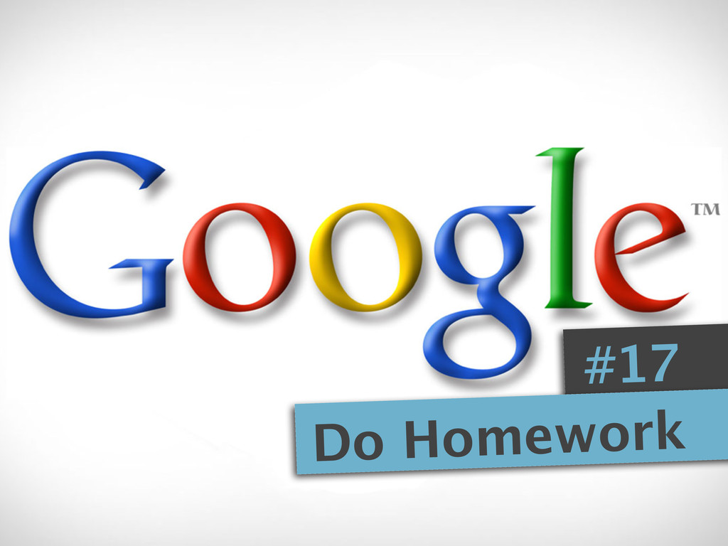 #17 Do Homework