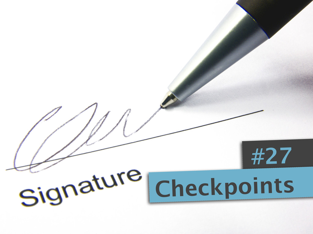 #27 Checkpoints