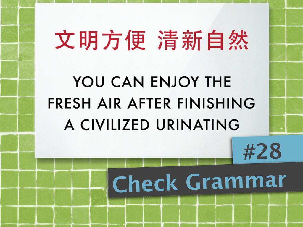 #28 Check Grammar