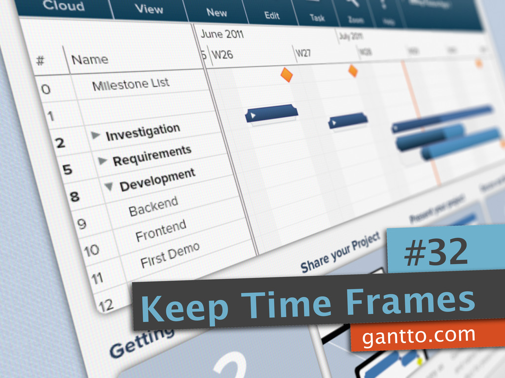 gantto.com #32 Keep Time Frames