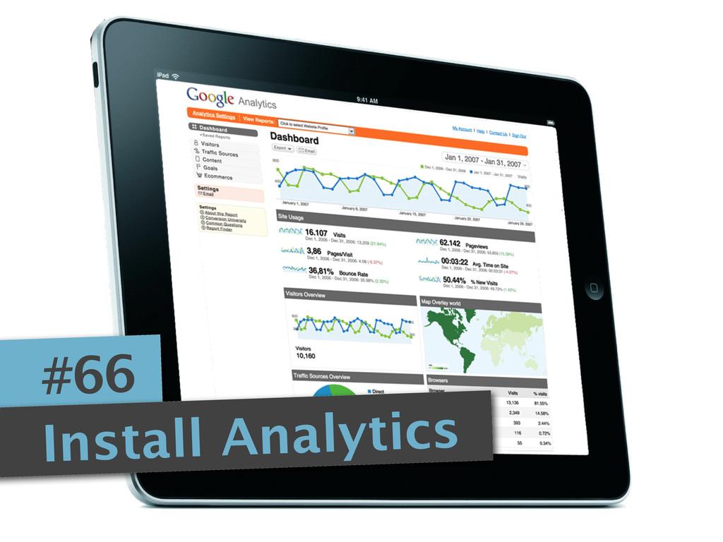 #66 Install Analytics