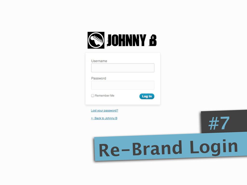 #7 Re-Brand Login