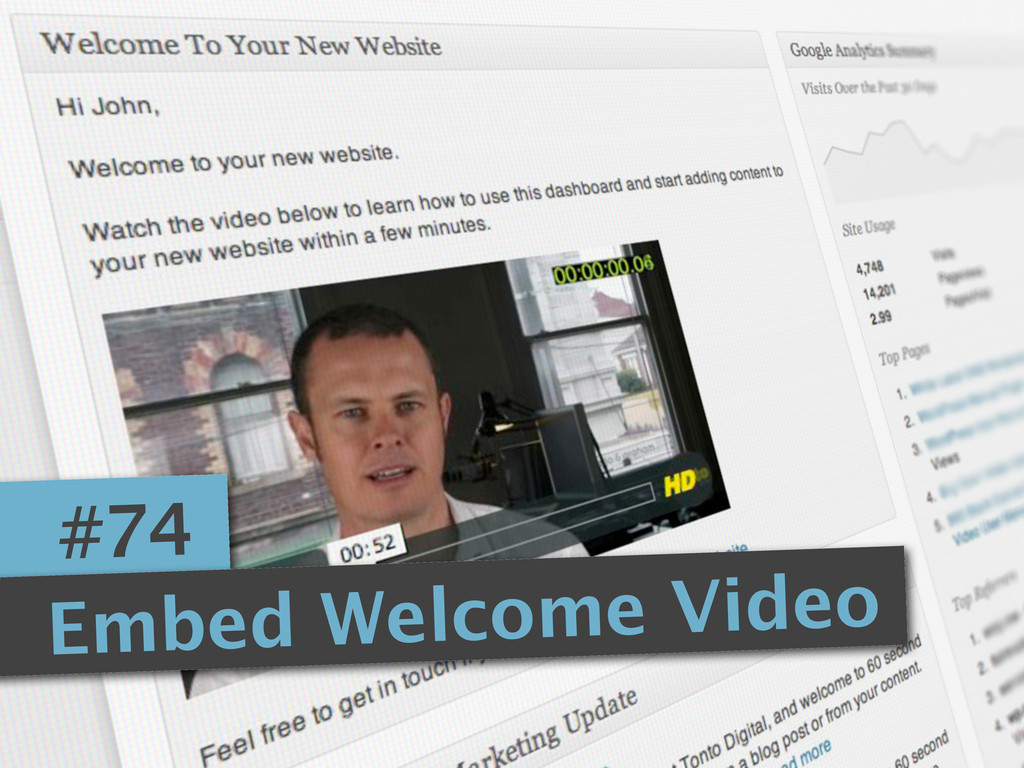 #74 Embed Welcome Video
