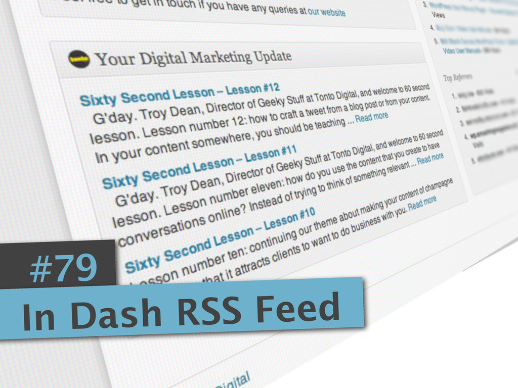 #79 In Dash RSS Feed