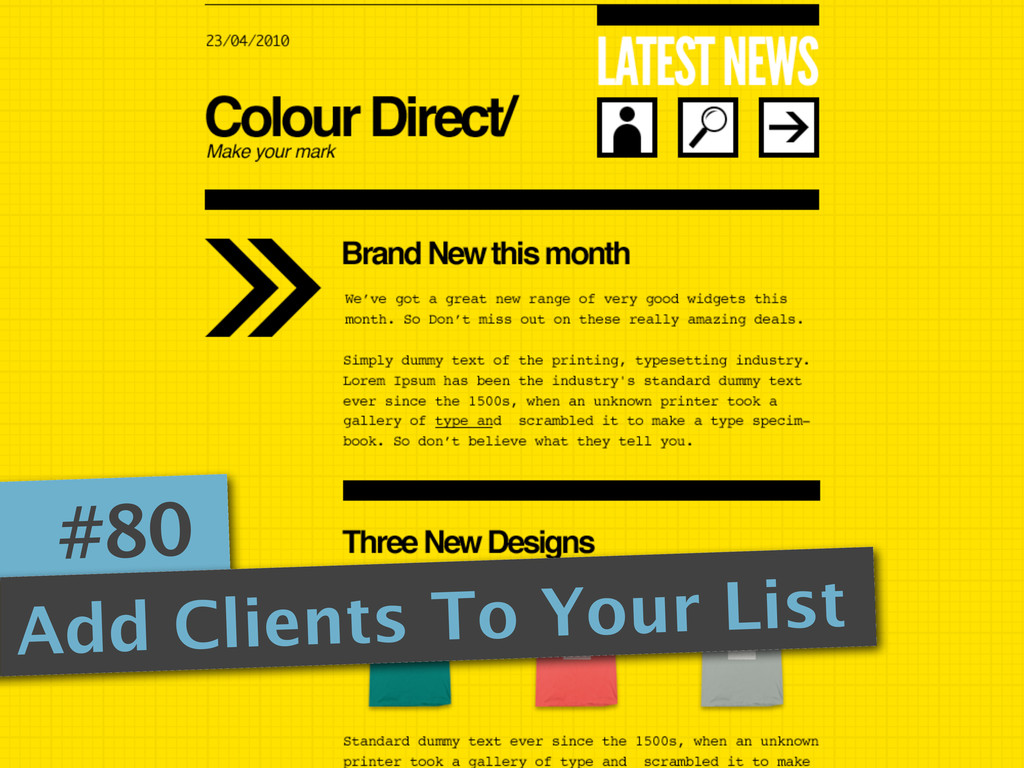 #80 Add Clients To Your List