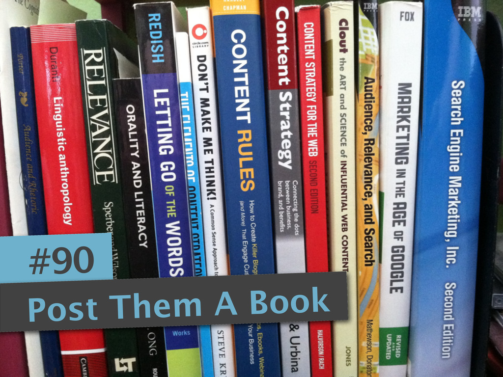 #90 Post Them A Book