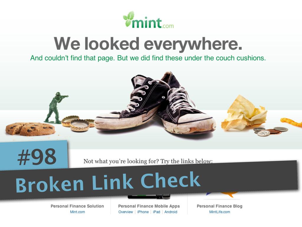 #98 Broken Link Check