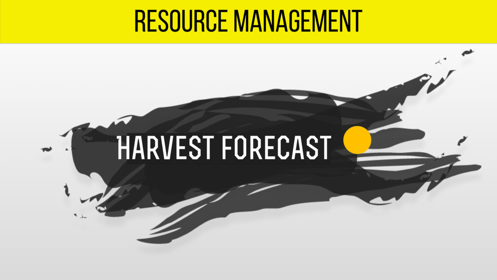 resource management Harvest forecast