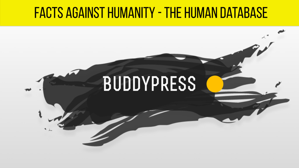 facts against humanity - the human database
