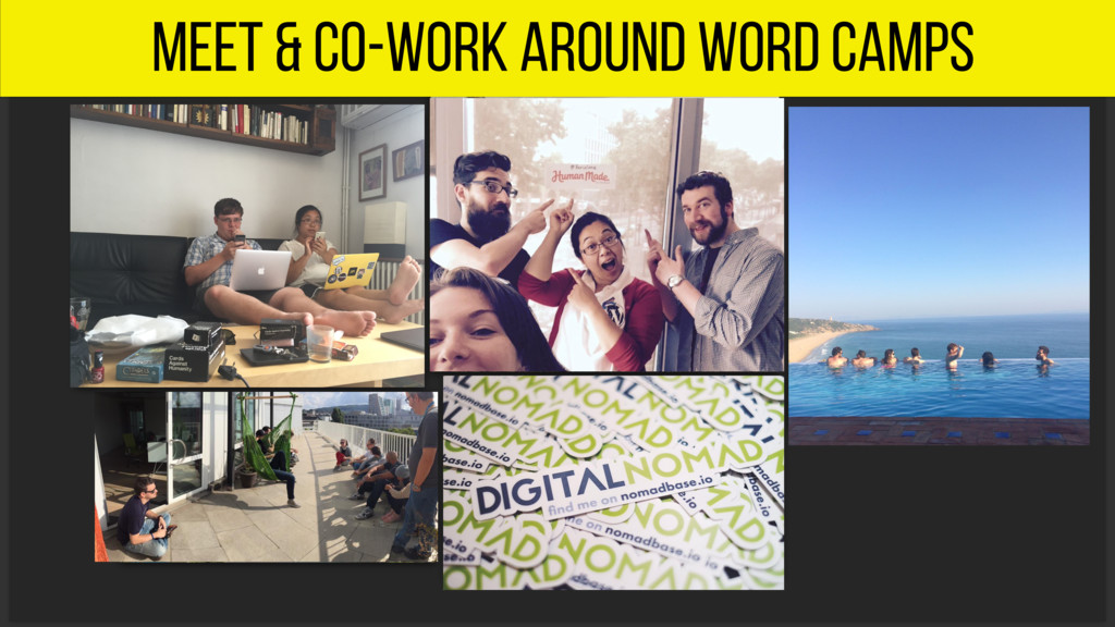 meet & co-work around word camps