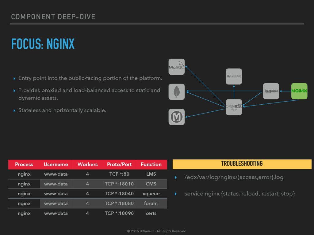 COMPONENT DEEP-DIVE FOCUS: NGINX ▸ Entry point ...
