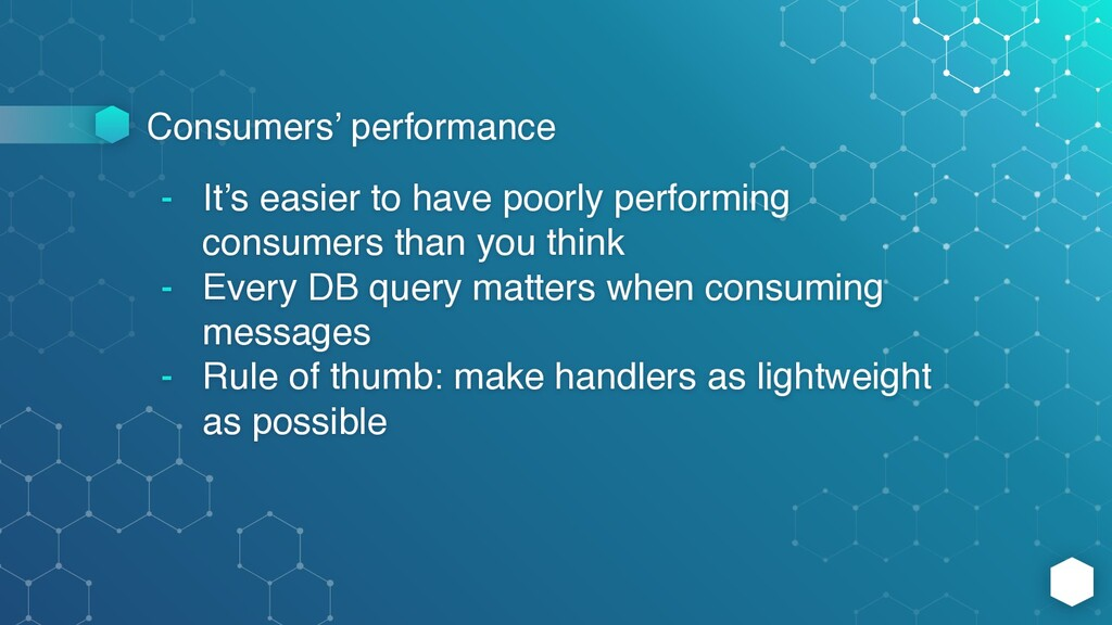 Consumers' performance - It's easier to have po...