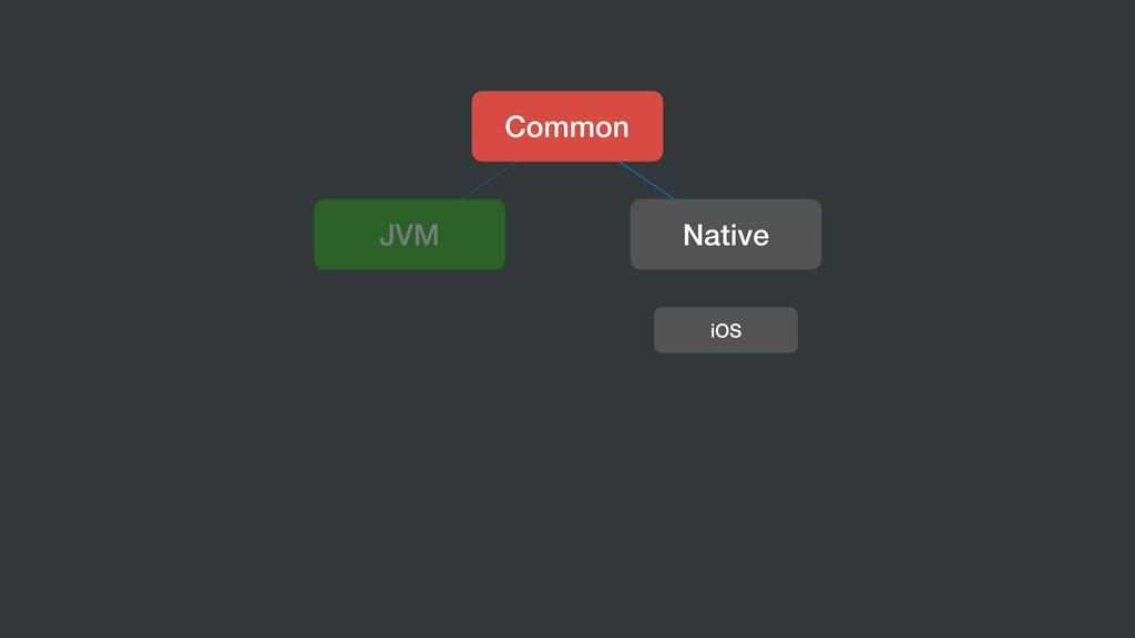 Common JVM Native iOS