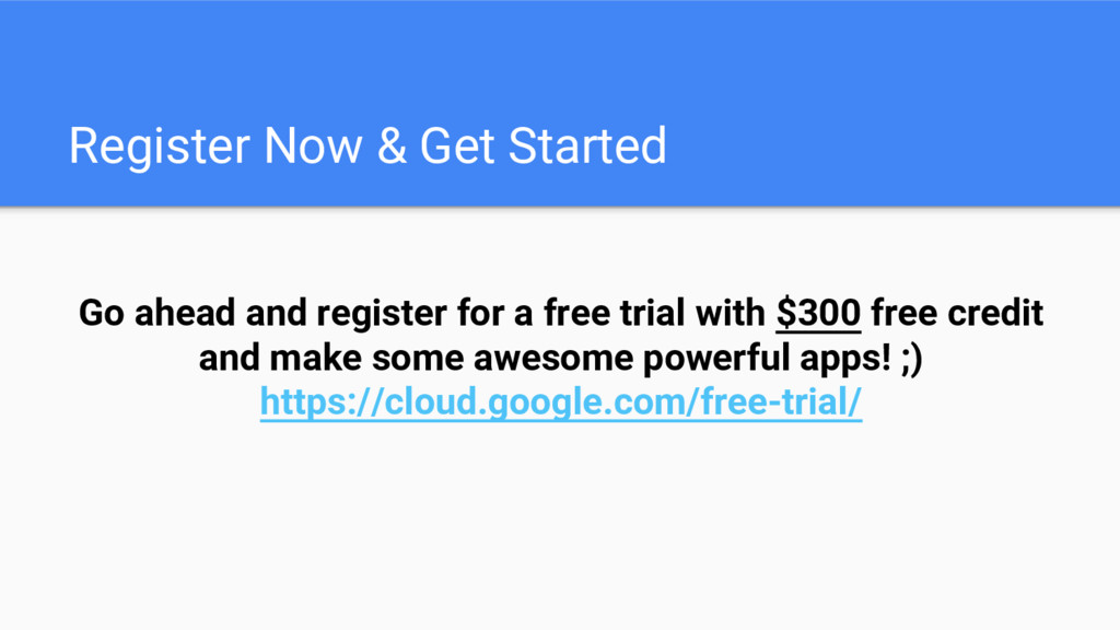 Register Now & Get Started Go ahead and registe...