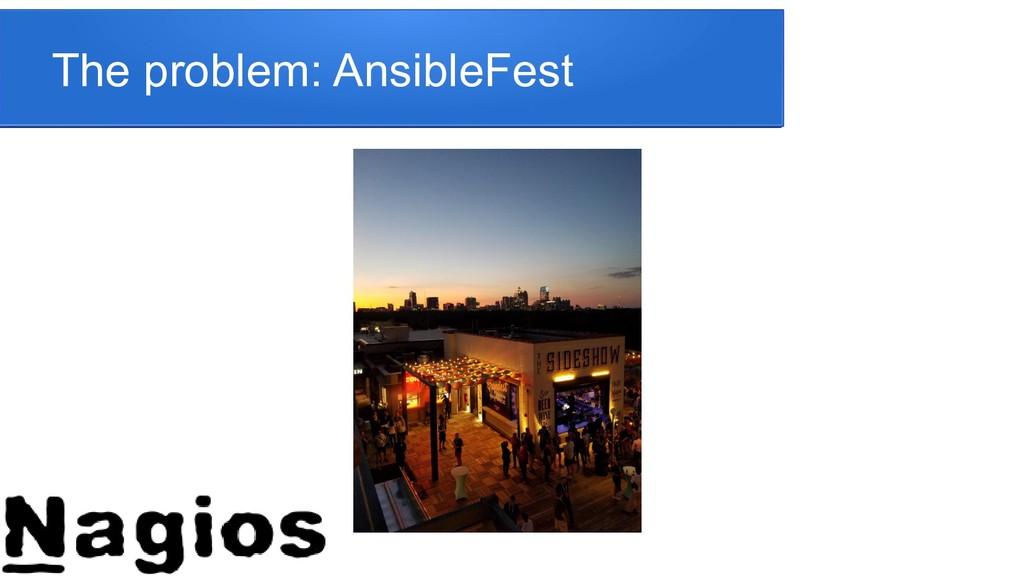 The problem: AnsibleFest