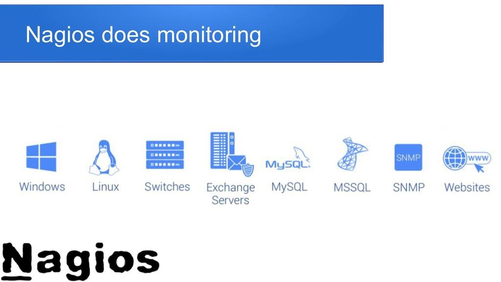 Nagios does monitoring