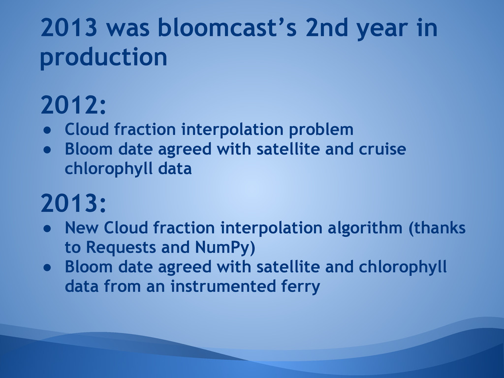 2013 was bloomcast's 2nd year in production 201...