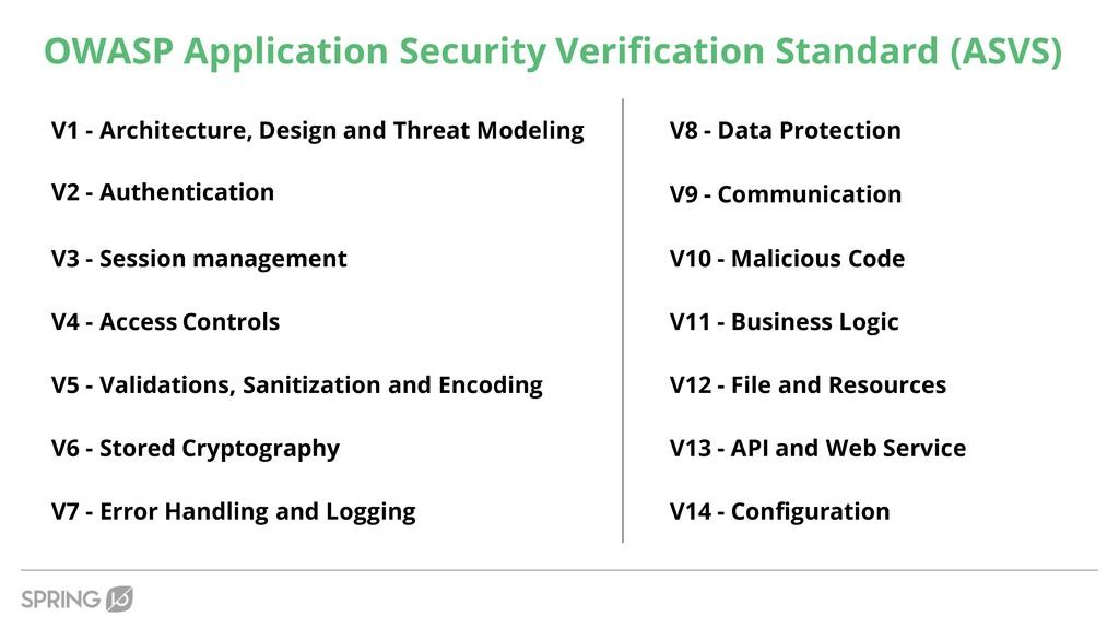 OWASP Application Security Verification Standar...