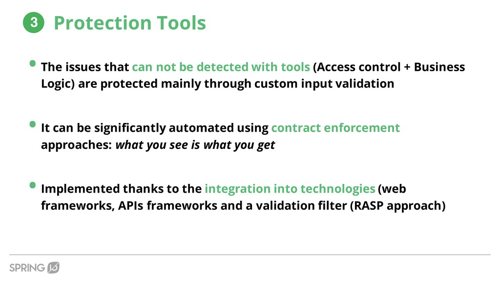 • The issues that can not be detected with tool...