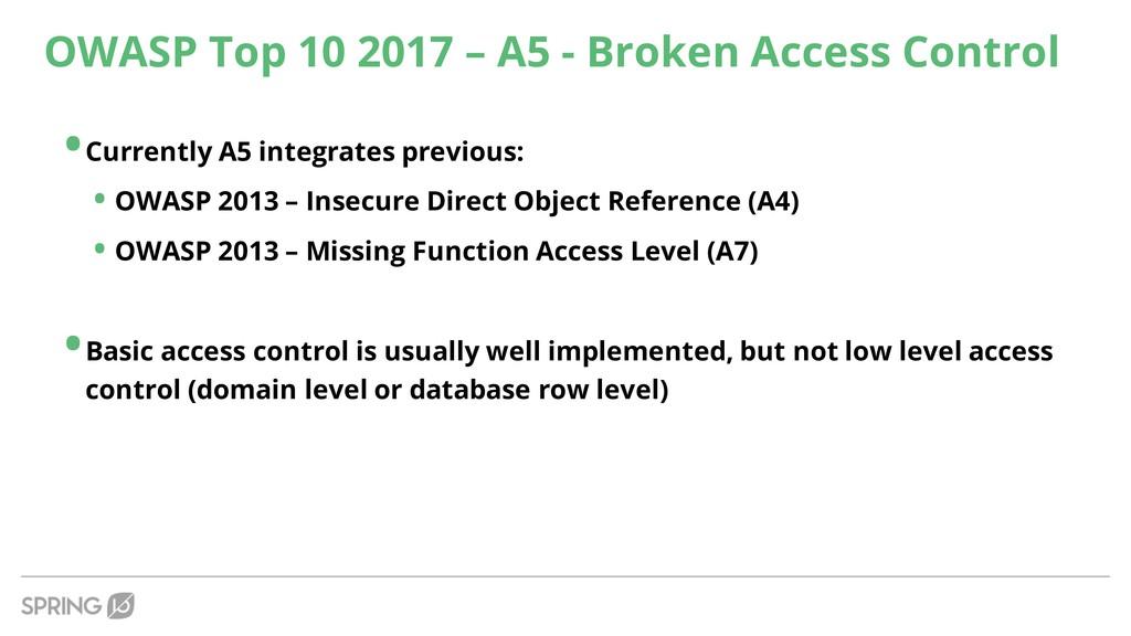 OWASP Top 10 2017 – A5 - Broken Access Control ...