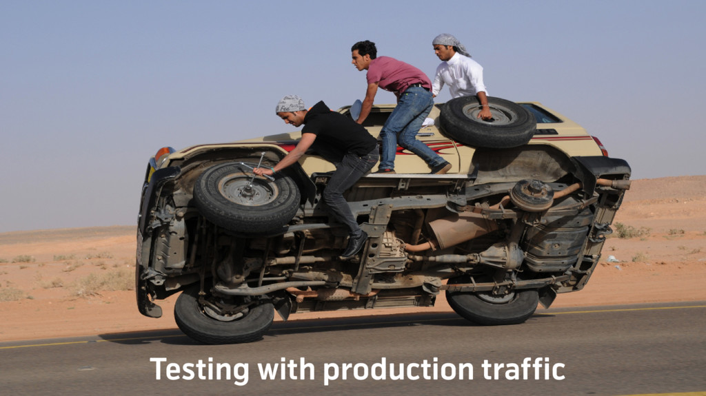 Testing with production traffic