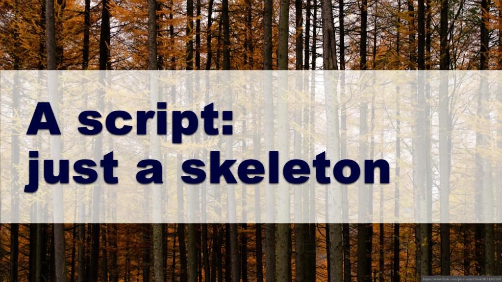 A script: just a skeleton https://www.flickr.co...