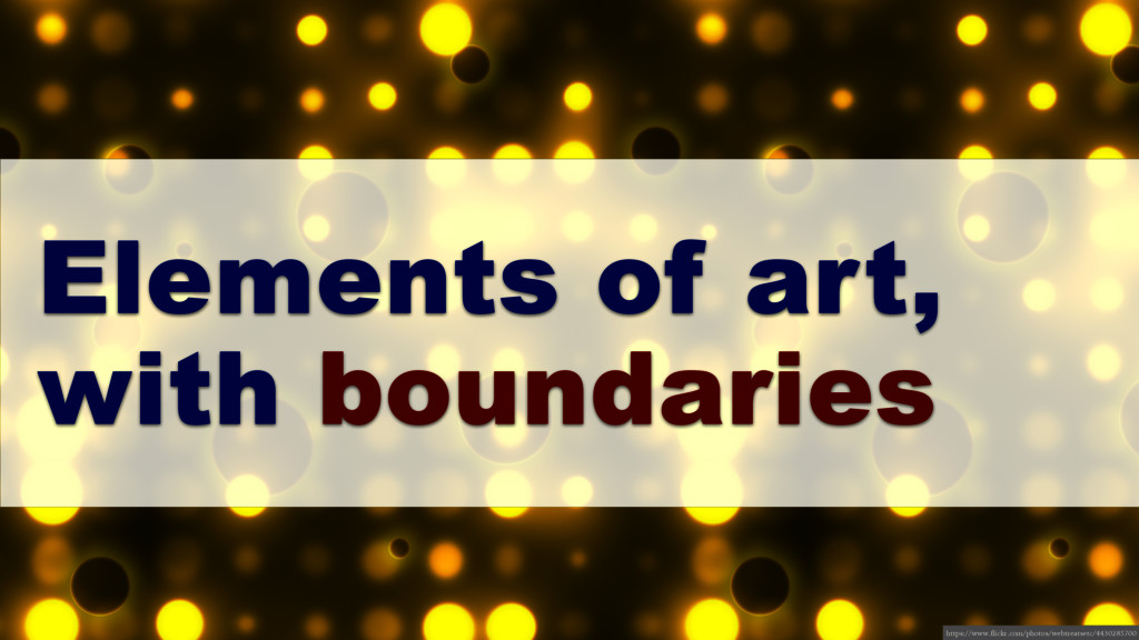 Elements of art, with boundaries https://www.fl...