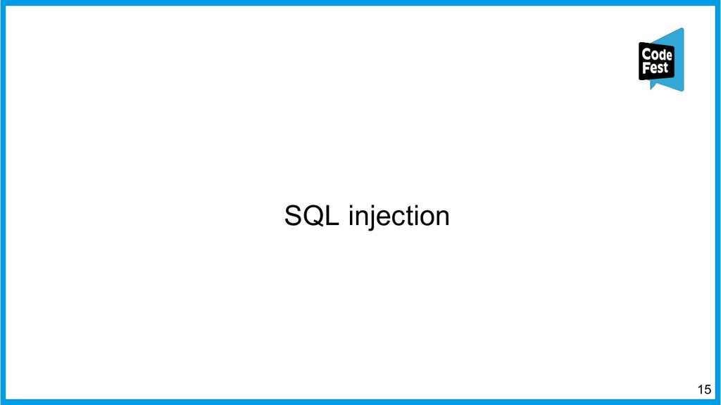 SQL injection 15