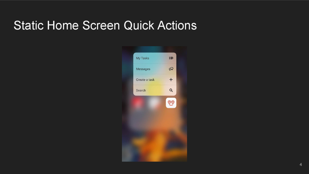 Static Home Screen Quick Actions 4