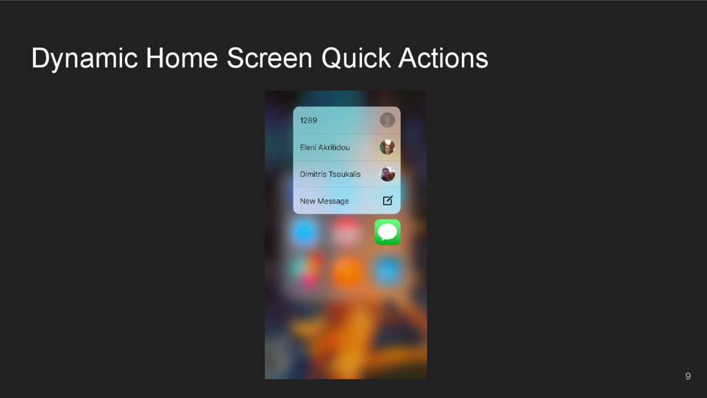 Dynamic Home Screen Quick Actions 9