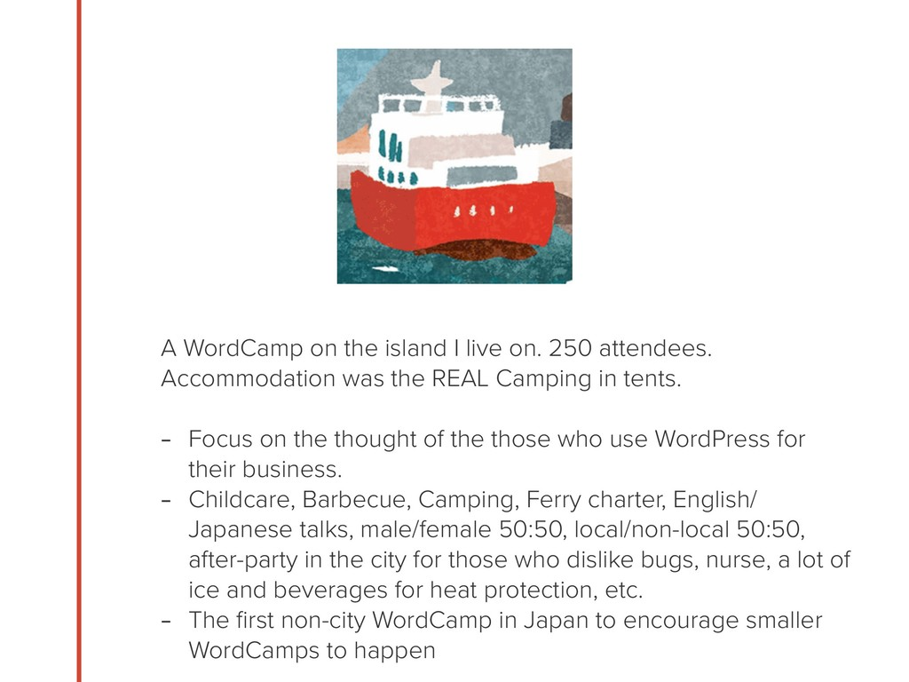 A WordCamp on the island I live on. 250 attende...