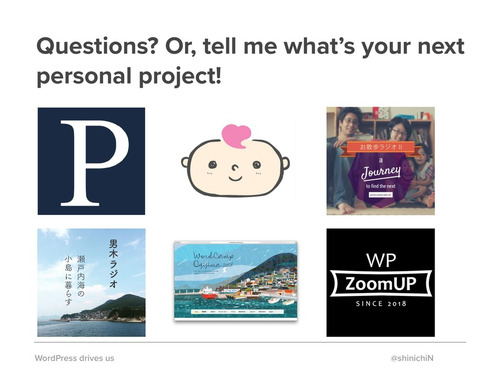 Questions? Or, tell me what's your next persona...