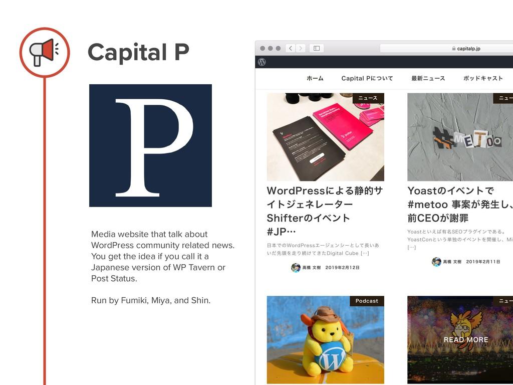 Capital P Media website that talk about WordPre...
