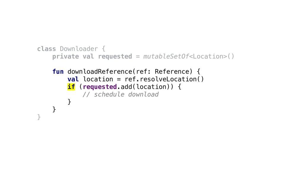 class Downloader { private val requested = muta...