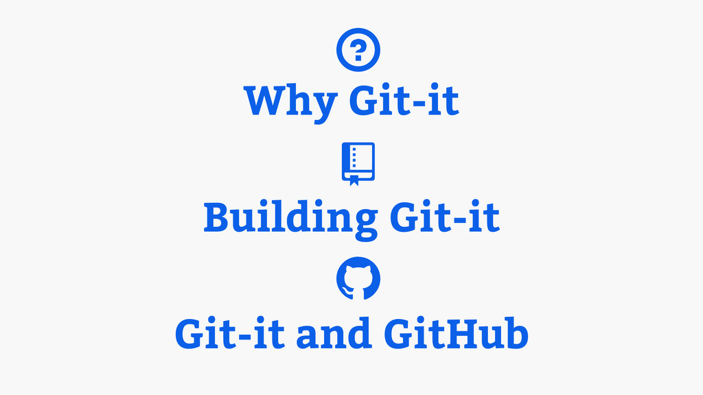 Why Git-it Building Git-it Git-it and GitHub ? ...