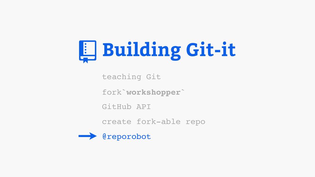 Building Git-it fork`workshopper` GitHub API cr...