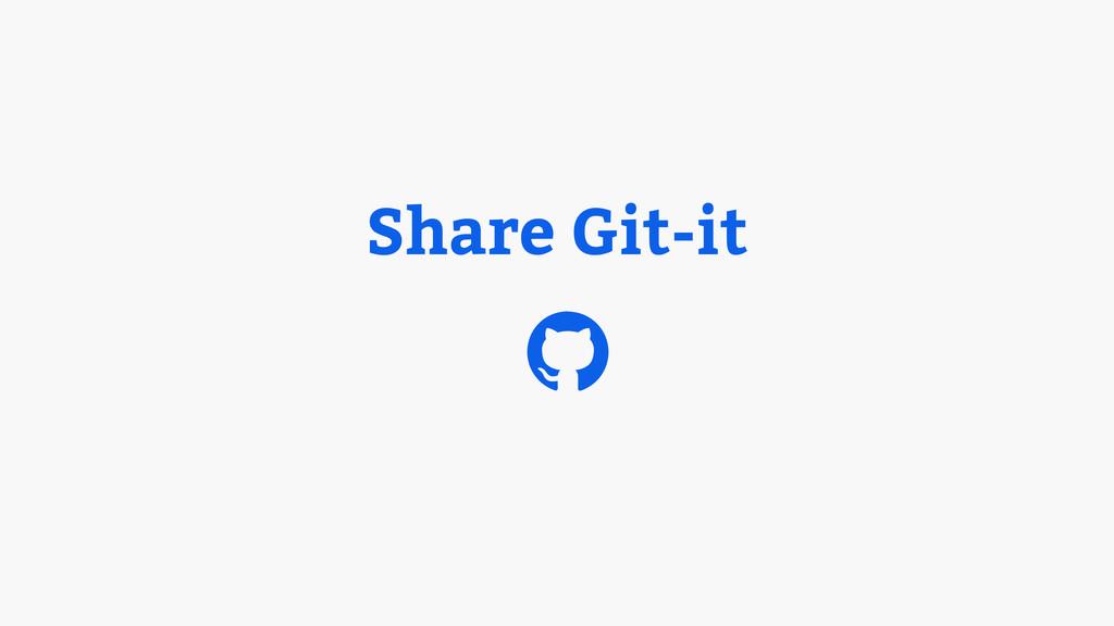 Share Git-it $
