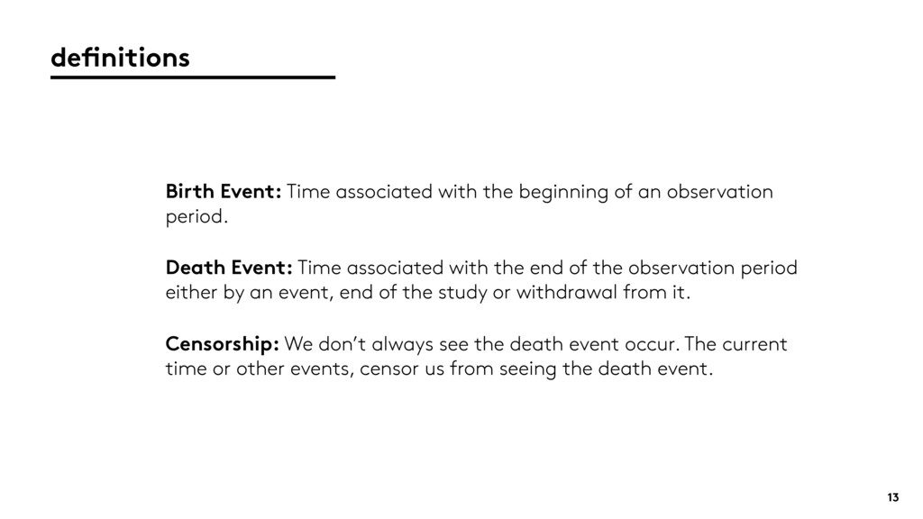 definitions 13 Birth Event: Time associated wit...