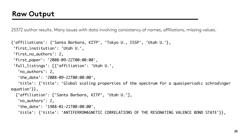 25 {'affiliations': {'Santa Barbara, KITP', 'To...