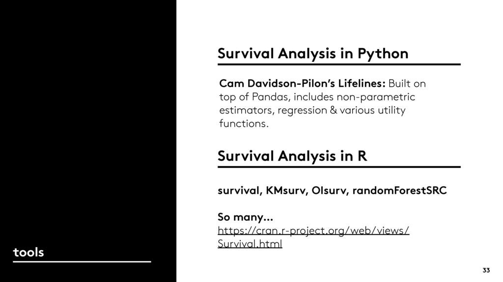 Survival Analysis in Python 33 tools Cam Davids...