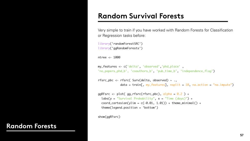 57 Random Forests Random Survival Forests libra...
