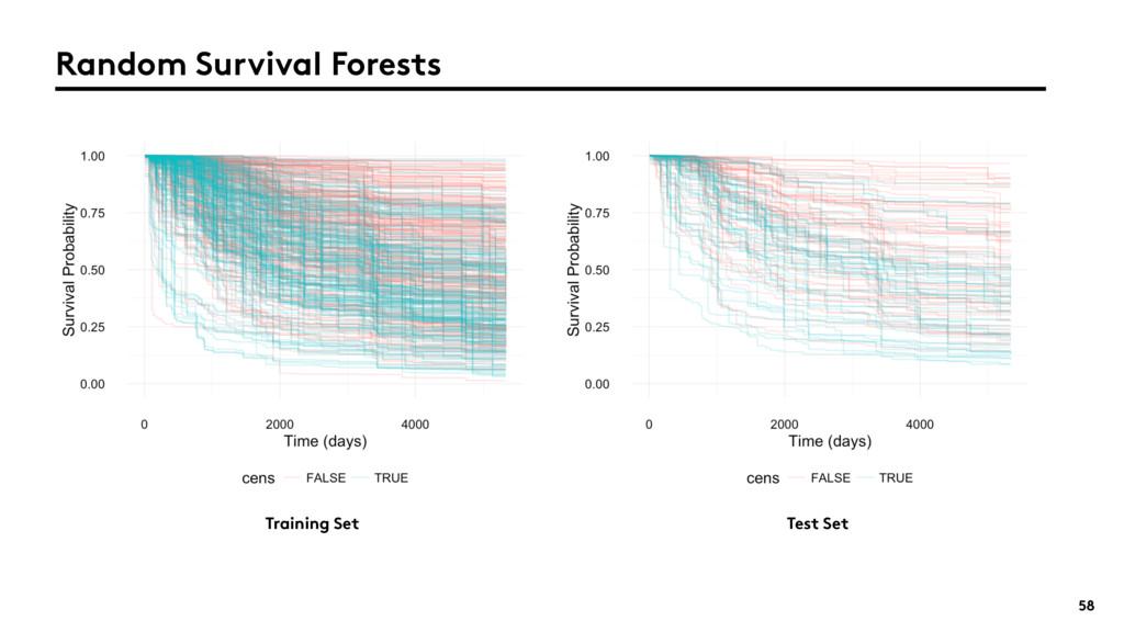 58 Random Survival Forests Training Set Test Set