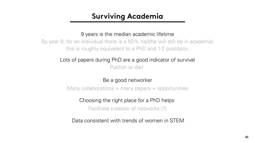 Surviving Academia 9 years is the median academ...